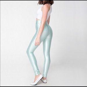 American Apparel disco pants, XS, mint.